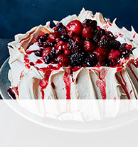 Mulled berry pavlova