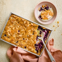 Almond-and-blueberry-sponge-pudding