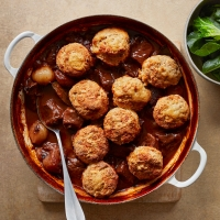Beef stew with Cheddar dumplings