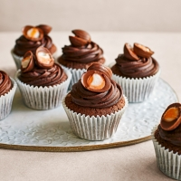 Chocolate egg cupcakes
