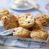 Fantastically fruity cheddar scones