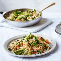 Green fried rice
