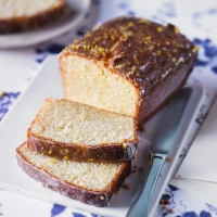 Martha's lemon and elderflower loaf cake