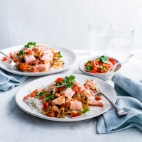 Spiced salmon curry