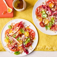 Tomato,-chicory-and-goats'-cheese-salad