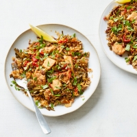 Turkey and spring green biriyani