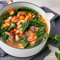 Tuscan sausage and white bean stew