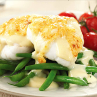 Plaice in a Cheese and Dijon Mustard Sauce
