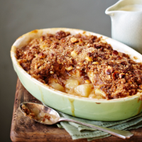 Apple, pear and brown sugar crumble