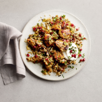 Chicken pilaf with pomegranate