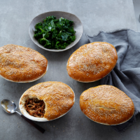 Chinese-spiced turkey pies with bun pastry