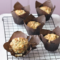 Courgette and gruyère muffins