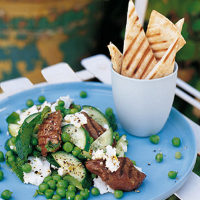 Griddled Lamb with Minted Pea Salad