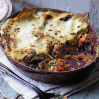 Goat's Cheese, Spinach and Roasted Red Onion Lasagne