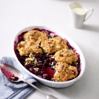 blueberry hazelnut cobbler