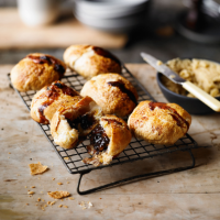 mincemeat Eccles cakes with rum mandarin butter