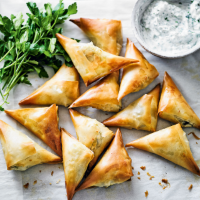 Martha Collison's feta, parsley & spinach börek
