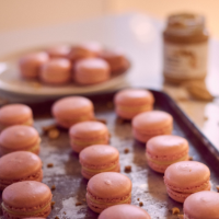 Waitrose Cookery School's peanut butter & raspberry macarons