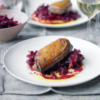 Soy and Honey Duck Breasts with Spiced Red Cabbage