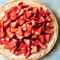 The River Café almond tart with strawberries