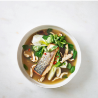Thai-style salmon broth