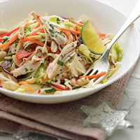 Vietnamese Turkey Salad with Mint and Chilli Dressing