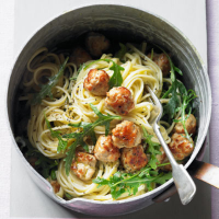 Veal meatballs with lemon pasta
