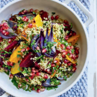 Warm beetroot and squash salad