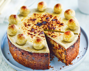 Fiona Cairns' pistachio and orange blossom simnel cake