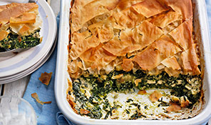 Greek spinach and feta pie