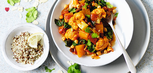 Sweet potato & chickpea curry