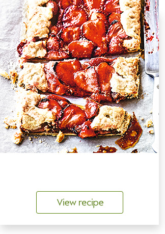 Strawberry and almond galette