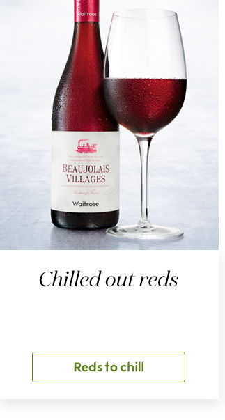 Chilled red wine