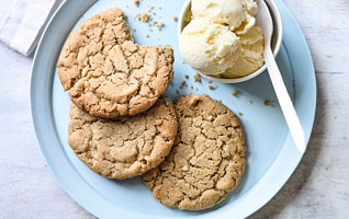Martha Collison's chewy gluten-free peanut butter cookies