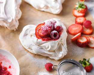 Martha's mini berry Pavlovas