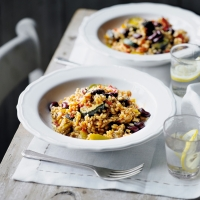 Cajun tomato & vegetable risotto
