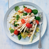 Chicory, crab & watercress salad