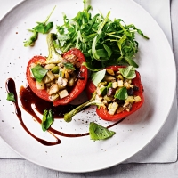 Garlic mushroom stuffed peppers
