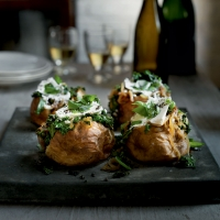 Kale & caramelised onion jackets