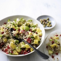 Mixed grain & avocado salad with mango & pomegranate