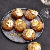 Orange and pistachio financiers