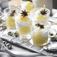 Clementine granita with star anise