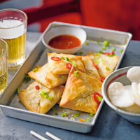 Crispy prawn parcels  with chilli dipping