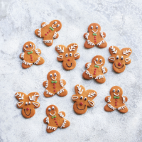 Gingerbread men & reindeer