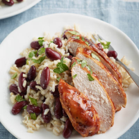 Jerk chicken with coconut rice
