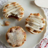 Marzipan topped mini mince pies