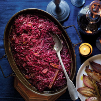 Port-braised spiced red cabbage
