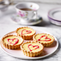 Martha's rhubarb & custard tartlets