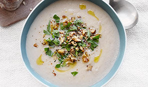 Celeriac & walnut soup