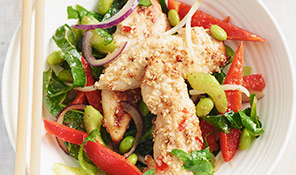 Sesame, chilli and lemongrass chicken stir-fry